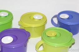 Tupperware Crystalwave Microwave Safe 2 cup Soup Mug Flip Ca