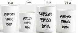 Custom Mug, personalized coffee mug, create your own mug, de