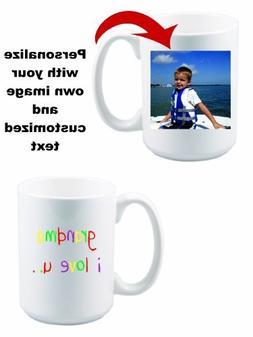 Custom Personal Snapshot Photo Mug - 15 oz