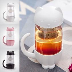 Cute Cat Glass Cup <font><b>Tea</b></font> <font><b>Mug</b><