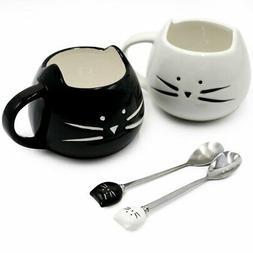 Cute Cat Mug Ceramic Coffee Mugs Set Gifts for Women Girls C