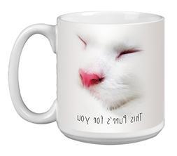 Cute Cat Extra Large Mug, 20-Ounce Jumbo Ceramic Coffee Mug