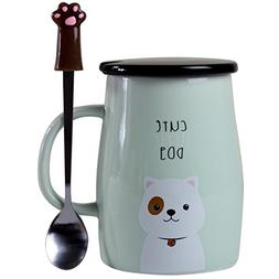 Angelice Home Cute Dog Mug Dog Coffee Mug Funny Ceramic Coff