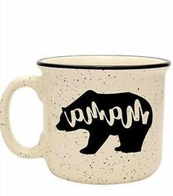 Cute Girly Coffee Mug for Mom, Women - Mama Bear - Sand - Un
