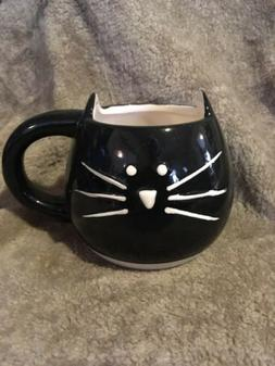 Cute Glassware & Drinkware Funny Black Cat Coffee Tea Milk C