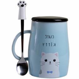 Angelice Home Cute Kitty Mug Cat Mug with Creative Stainless