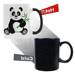 InterestPrint Cute Little Panda With Bamboo Morphing Mug Hea
