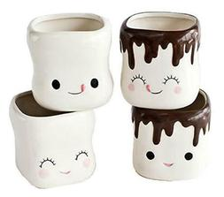 cute marshmallow shaped chocolate mugs