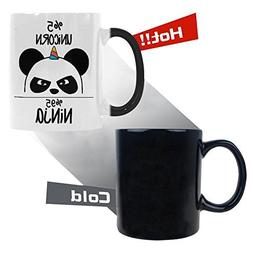 InterestPrint Cute Ninja Panda Morphing Mug Heat Sensitive C