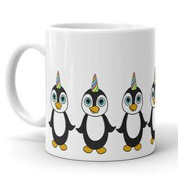 Cute Penguin Unicorn Coffee Mug Tea Cup Birthday Gift for Ki