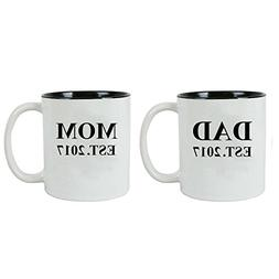 Dad + Mom Established EST. 2017 11-Ounce Ceramic Coffee Mug
