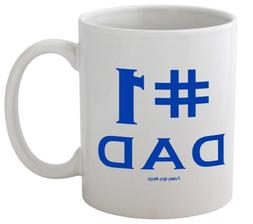 Funny Guy Mugs #1 Dad Ceramic Coffee Mug, White, 11-Ounce
