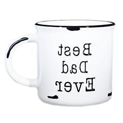 Dad Coffee Mug Best Dad Ever - 15 oz Ceramic Campfire Mug  