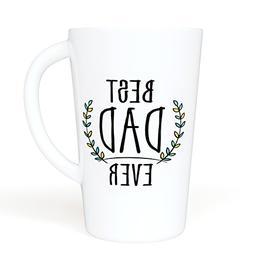 BEST DAD EVER - Funny Quote 16 oz. Novelty Ceramic Mug - Lar
