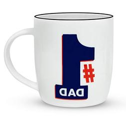 Gifffted Number 1 Dad Coffee Mug, Funny Worlds Best Dad Gift