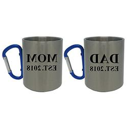 Dad and Mom Established EST. 2018 Stainless Steel 11 Ounce C