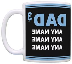 Personalized Dad Mug Dad of 3 Custom Names Father Son Gifts