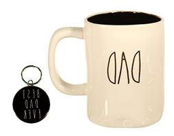 Rae Dunn DAD Mug Coffee Cup With Black Interior Gift Set wit
