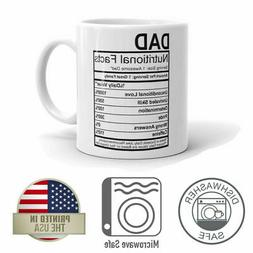 Dad Nutrition Facts Father's Day 11oz Coffee Mug For Dad Dis
