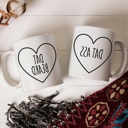 DAT ASS DAT BEARD Mug Set for Couple Funny Couples Coffee Mu