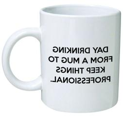 day drinking from a mug to keep