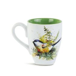 Dean Crouser Spring Chickadee Watercolor Green Glossy Cerami