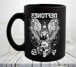 Deftones Diamond Eyes Owl and Skull Coffee Mug
