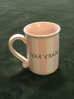 Delicate Pink & Ivory MARY KAY Mug Cup Fancy Handle Cocoa Co