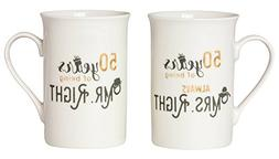 Designer 50th Anniversary Mr Right & Mrs Always Right Mug Gi