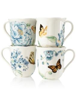 Lenox Dinnerware, Set of 4 Butterfly Meadow Blue Assorted Mu