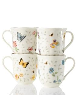 Lenox Dinnerware, Set of 4 Butterfly Meadow Petite Assorted