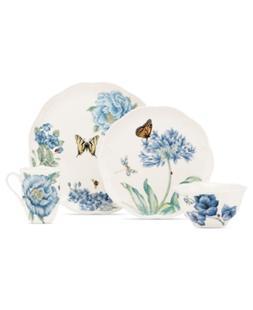 Lenox Dinnerware, Butterfly Meadow Blue 4 Piece Place Settin
