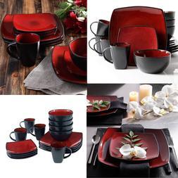 Dinnerware Set Square Dinner Plates Mugs Dishes Bowls For Ho