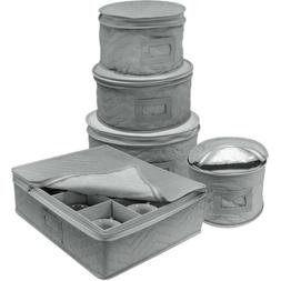 Sorbus Dinnerware Storage 5-Piece Set for Protecting or Tran