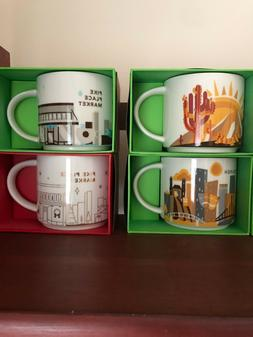Starbucks discontinued You Are Here! YAH Mugs Multiple New i