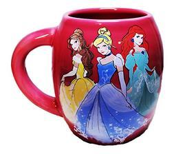 Disney 3 PRINCESSES 18 oz Pink Oval Ceramic Coffee MUG
