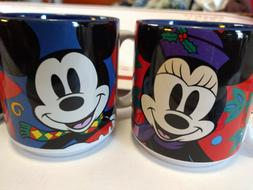 Disney Christmas Mugs NEW in Box Set of 4 12-oz. Ceramic An