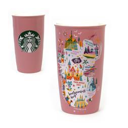 Disney Disneyland Resort Starbucks Pink Ceramic 12oz Tumbler