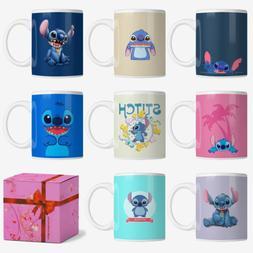 Disney Lilo & Stitch Pattern Coffee Mug Tea Milk Cup Birthda