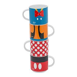 Vandor Disney Mickey and Friends 4 Piece Stacking Ceramic Mu