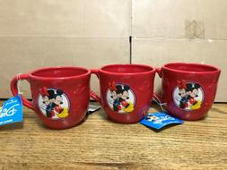 Disney Hallmark Mickey Mouse and Minnie Mouse Red 3D Coffee