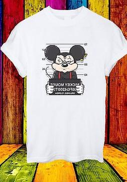 Disney Mickey Mouse Mugshot Cartoon Character Funny Men Wome