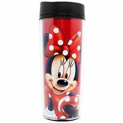 Disney Minnie Mouse Polka Dots Travel Mug Red