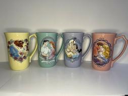 Disney Princess Coffee Latte Mugs Set Of 4 - Brand New