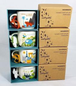 "Disney World Starbucks 2"" Ceramic Mug Ornaments Complete Set"
