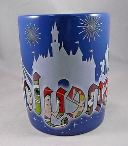 Disneyland Exclusive Mug Cup 3D Characters Mickey Tink Stitc