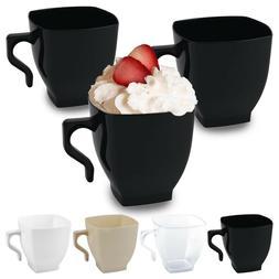 Disposable Plastic Coffee Mugs Square Coffee Tea Espresso Du