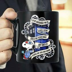 Doctor Who Sn0opy To My Wife I Wish I Could Turn Back Mug Bl
