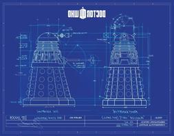Doctor Who Dalek Blueprint TV Television Show Postcard Print