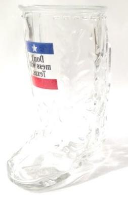 "Anchor Hocking ""Don't Mess with Texas"" Shot Glass Boot Mug"